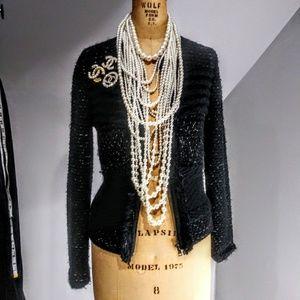 Ann Taylor Black Tweed Jacket